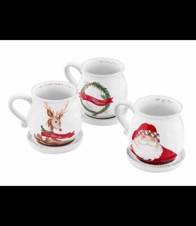 Mud Pie Christmas Tea Mug