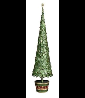 """Dekorasyon 17"""" Neo Holly Topiary Tree (Olive Dream)"""