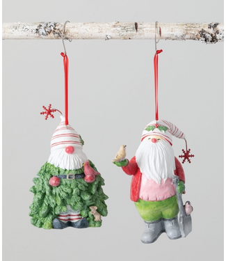 Sullivans CD Gnome Ornament Santa/Tree
