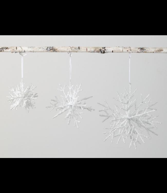 Sullivans Snowflake Ornament White