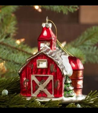 Barn Glass Ornament