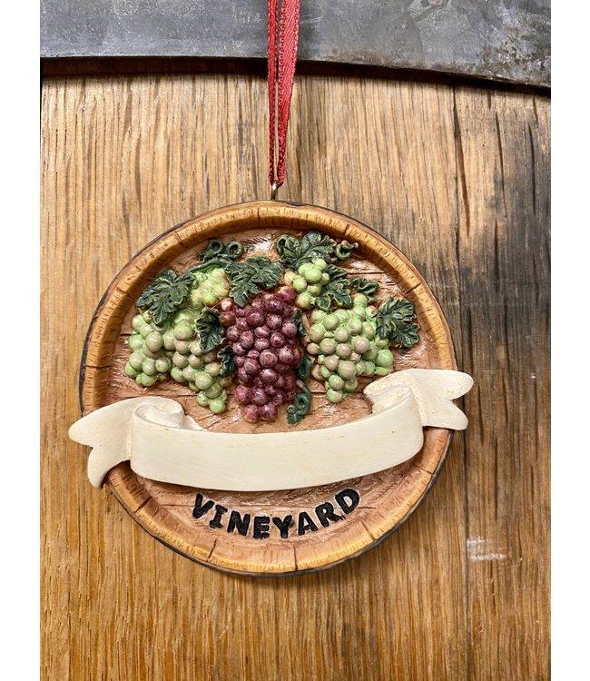 "Vineyard Ornament Ornament 3.25"" personalize"