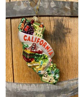"""California Ornament 5"""" Glass"""