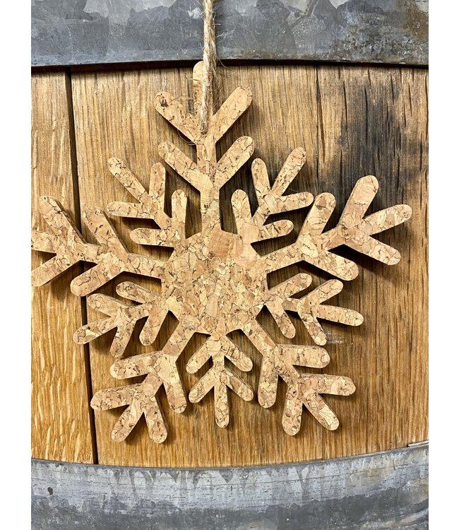 Cork Snowflake Orn