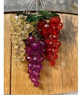 Beaded Grape Ornament