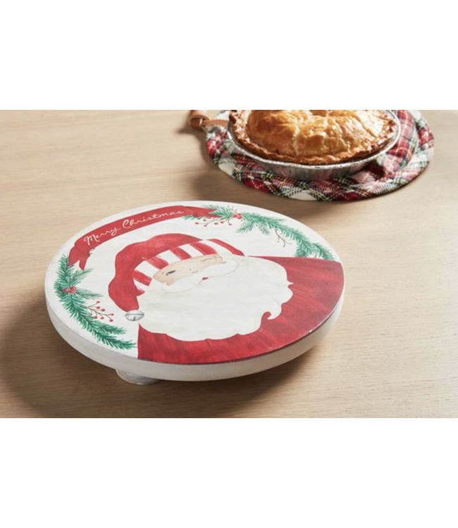 Mud Pie Santa Wood Trivet