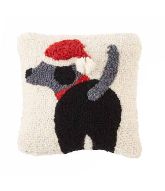 Mud Pie Dog Mini Hook Pillow Santa