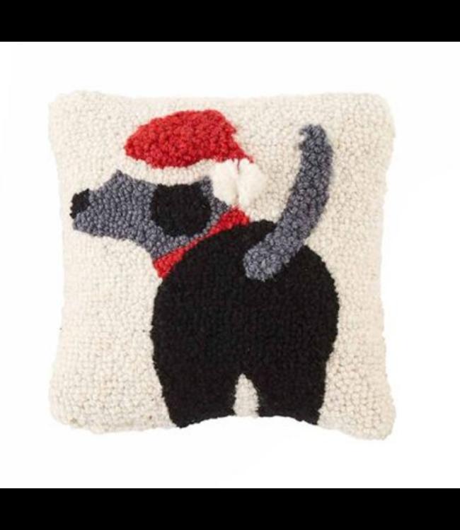 Mud Pie Dog Mini Hook Pillow Santa