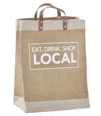 Eat Drink Local Farmer's Market Tote