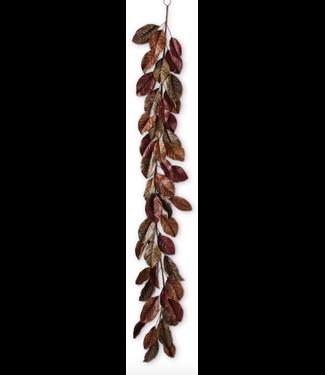 "Brown Magnolia Leaf Garland 72"""