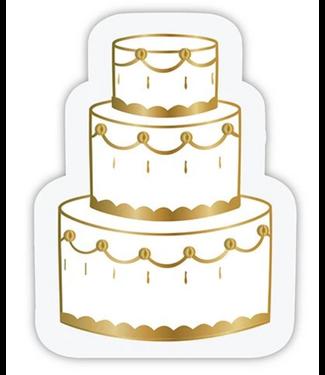 Wedding Cake Bev Napkin Die Cut 20ct