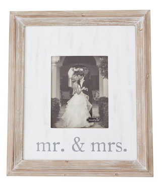 Mud Pie MR AND MRS LARGE FRAME