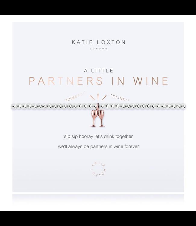 a little Partners in Wine- bracelet