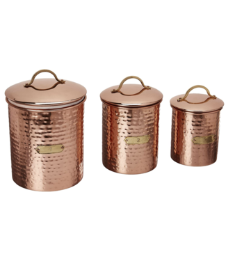 Mud Pie Copper Canister Set