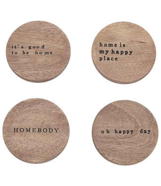 Mud Pie Happy Home Coasters