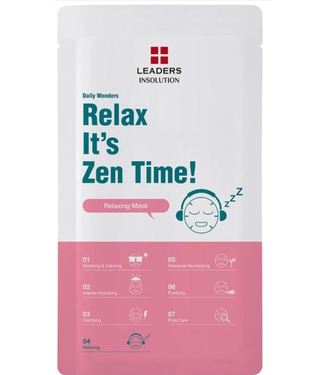 Leaders Cosmetics USA Daily Wonders Relax It's Zen Time! Sheet Mask