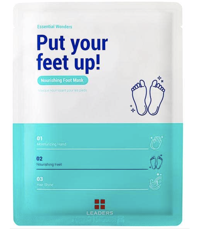 Leaders Cosmetics USA Essential Wonders Put your Feet Up! Foot Mask