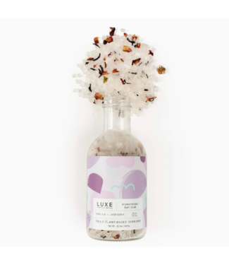 Luxe Vanilla + Lavender Aromatherapy Bath Salt Soak