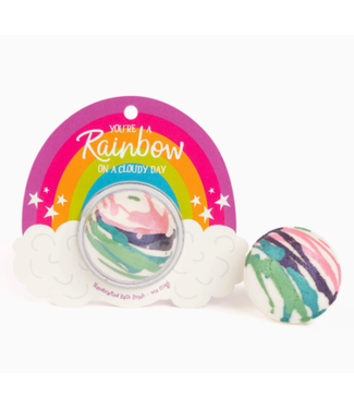 You're a Rainbow on a Cloudy Day Clamshell Bath Bomb