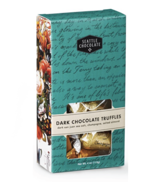 Seattle Chocolate Dark Chocolate Truffle Box