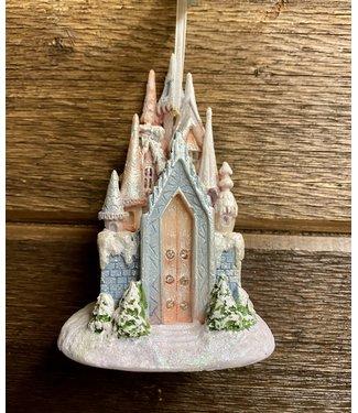"LED Ice Castle Ornament 5"""