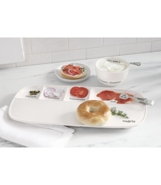 Mud Pie Mud Pie Brunch Bagel Serving Set