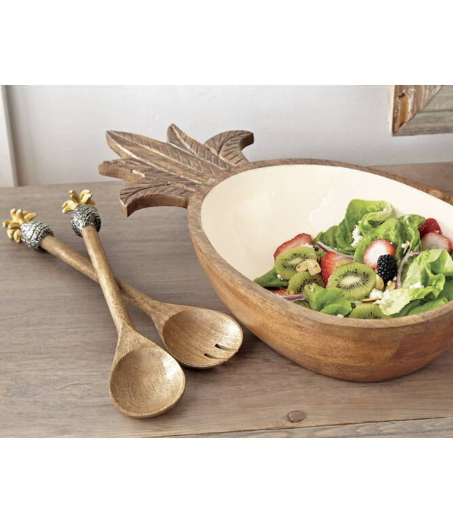 Mud Pie Pineapple Salad Servers