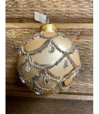Gold Jeweled Glass Ball