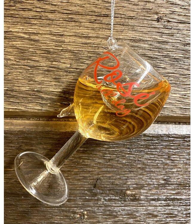 "4"" Rose  Glass"