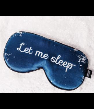 "Moonlit Skincare ""Let Me Sleep"" Silk Eye Mask"