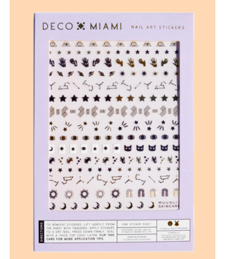 Moonlit Skincare Deco Miami Nail Sticker Decals