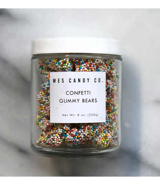 Wes Candy Co Confetti Gummy Bears 8oz