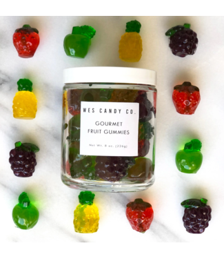 Wes Candy Co Gourmet Fruit Gummies 8oz