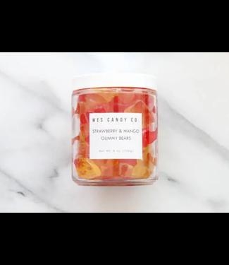 Wes Candy Co Strawberry Mango Gummy Bear Mix 8oz