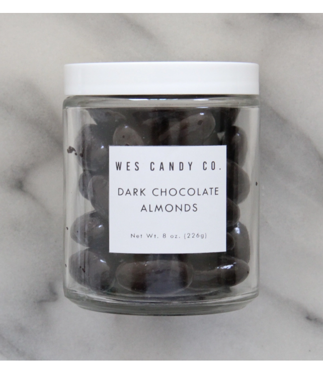 Wes Candy Co Dark Chocolate Covered Almonds 8oz