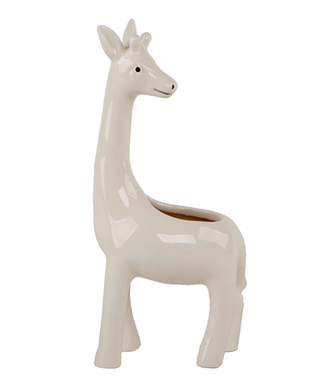 "Flora Bunda 9.5"" Giraffe Ceramic Planter"