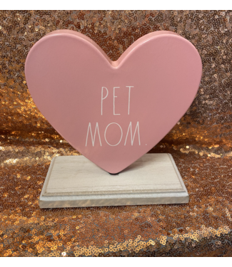 Rae Dunn Pet Mom Heart Plaque