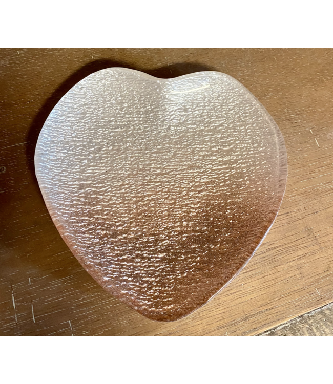 Private Ombre Pink Heart Dish