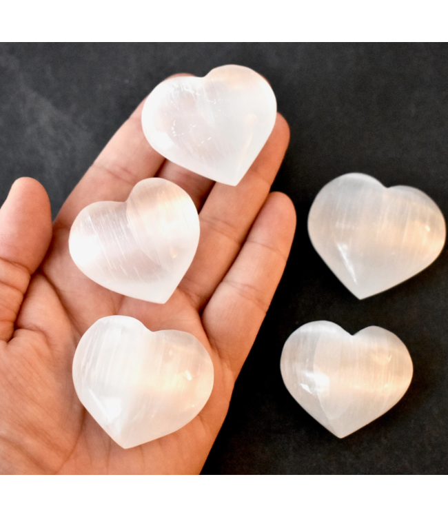 Large Selenite Heart Crystal