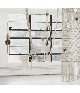 "Soul of the Party 36"" Macrame Basket Plant Hanger"