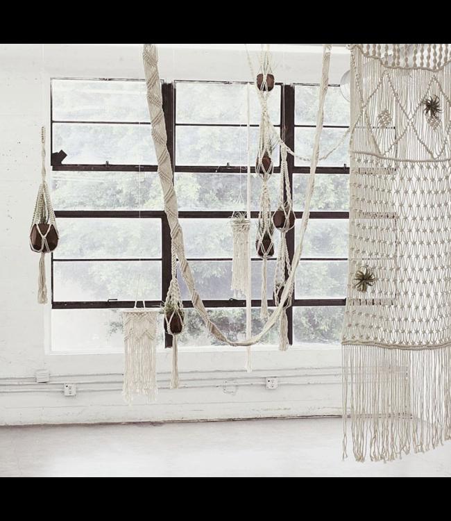 "Soul of the Party 36"" Macrame Basket Plant Hanger"