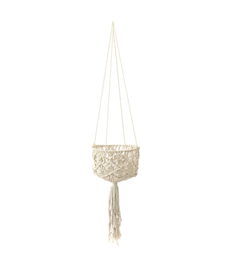 "Soul of the Party 53"" Macrame Basket Plant Hanger"
