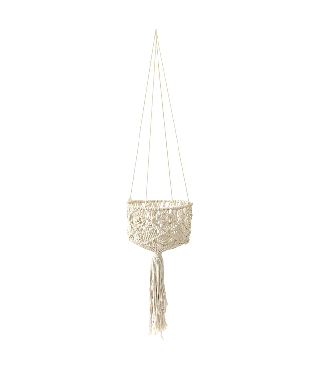 "Soul of the Party 53"" Macrame Basket Plant Hanger"