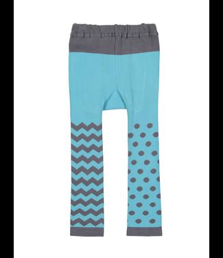 Doodle Pants Blue Monster Cotton Leggings