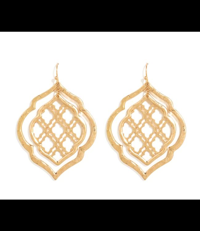 Gold Double  Moraccan Earrings