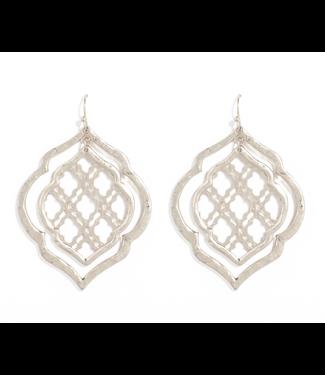 Silver Double  Moraccan Earrings