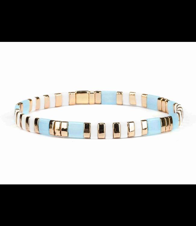 Miyuki Stretch Bracelet Blue