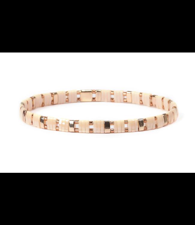 Miyuki Stretch Bracelet Ivory