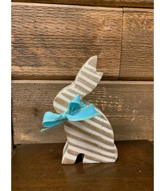 Home Goods Small White Wood Bunny