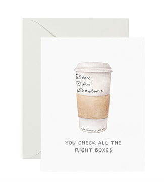 Amy Zhang Tall Dark and Handsome Coffee Love Card